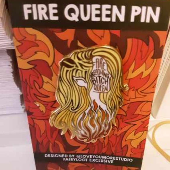 FairyLoot Fire Breathing Queen Pin